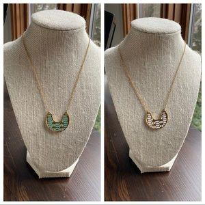 Stella & Dot Breezeblock Reversible Necklace
